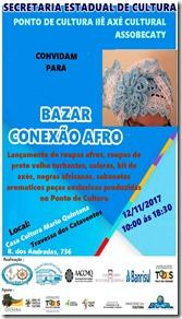 Convite Bazar Ponto de Cultura